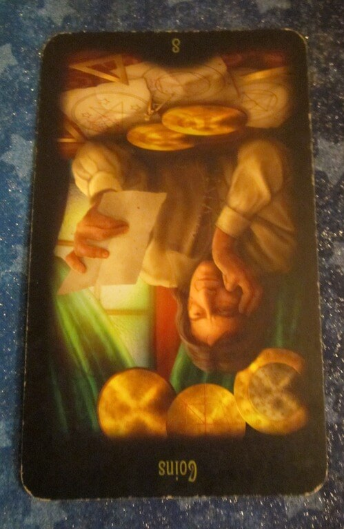 Everyday Tarot, 05/28/11: Detours / Inverted 8 of Pentacles 1