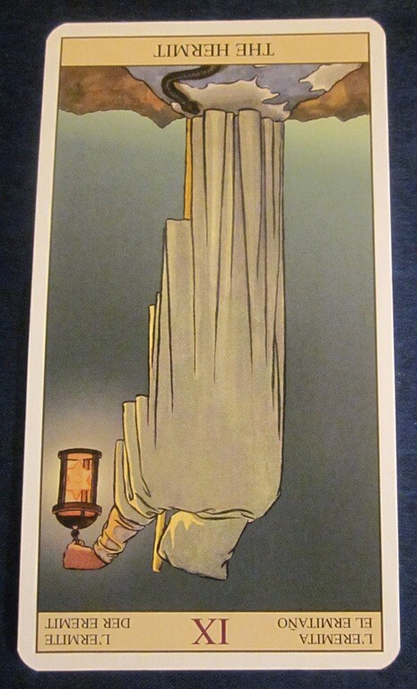 Everyday Tarot, 05/23/11: Near the Deeper Truth / Inverted Hermit 1
