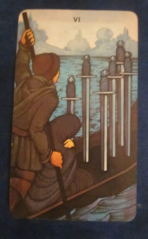 Everyday Tarot, 05/14/11: Traveling Light / Six of Swords 1