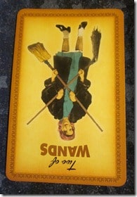 Everyday Tarot, 05/19/11: Cure for Greener Grass / Inverted Two of Wands