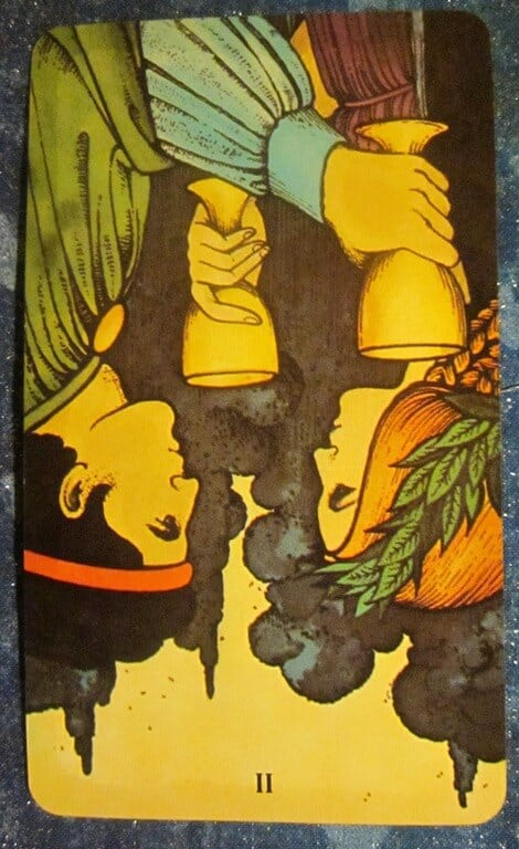 Everyday Tarot, 5/4/11: Feeling Disconnected / Inverted 2 of Cups 1
