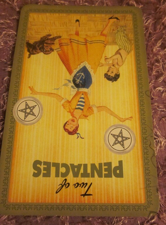 Everyday Tarot, 5/2/11: Smashed Plates and the Reversed 2 of Pentacles 1