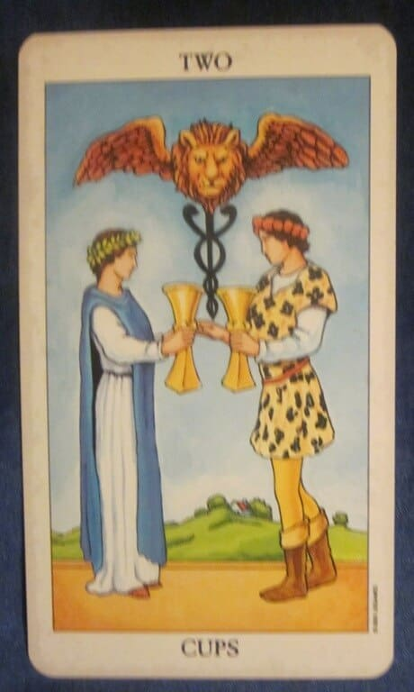 Everyday Tarot, 05/09/11: Reflecting Better Relationships/Two of Cups Tarot 1