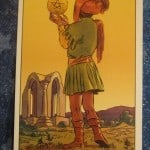 Everyday Tarot, 06/19/11: Guiding Your Horse / Page Pentacles