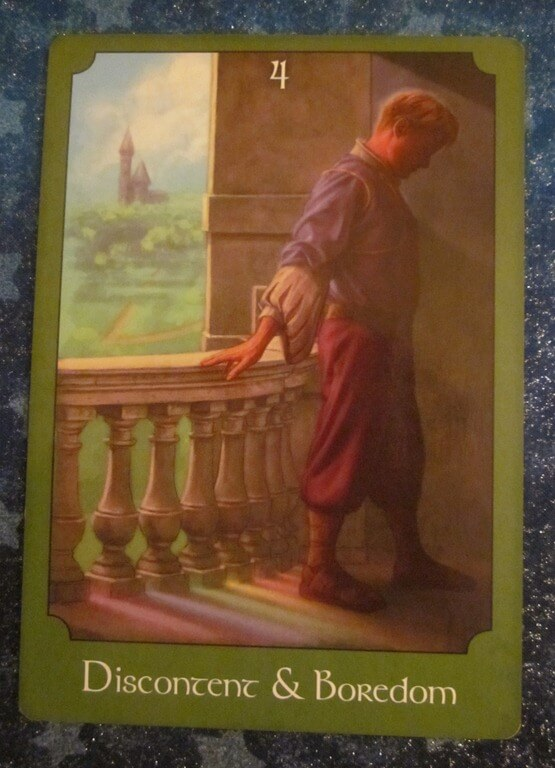 Everyday Tarot, 06/16/11: Planting a New Garden / 4 of Cups 1