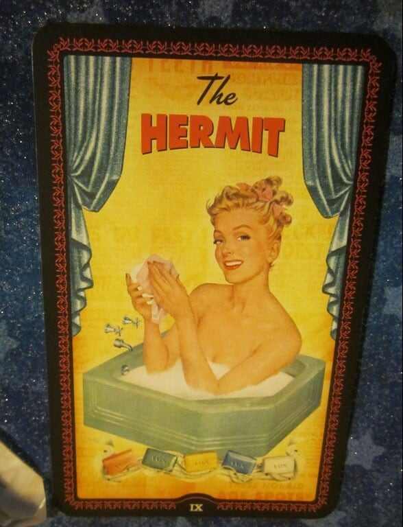 Everyday Tarot, 07/01/11:  Wash that Man Right Out of Your Aura! | Hermit 1