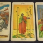 Everyday Tarot, 07/21/11: Cows, on the Way Home | Knight Swords, 3 Wands, 6 Wands