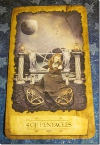 09/02/11: Gift of Consistency | Four of Pentacles