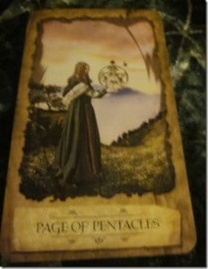 09/30/11: Consistent Focus | Page of Pentacles