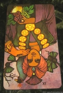 10/08/11: Do Your Homework! | Reversed Nine of Pentacles