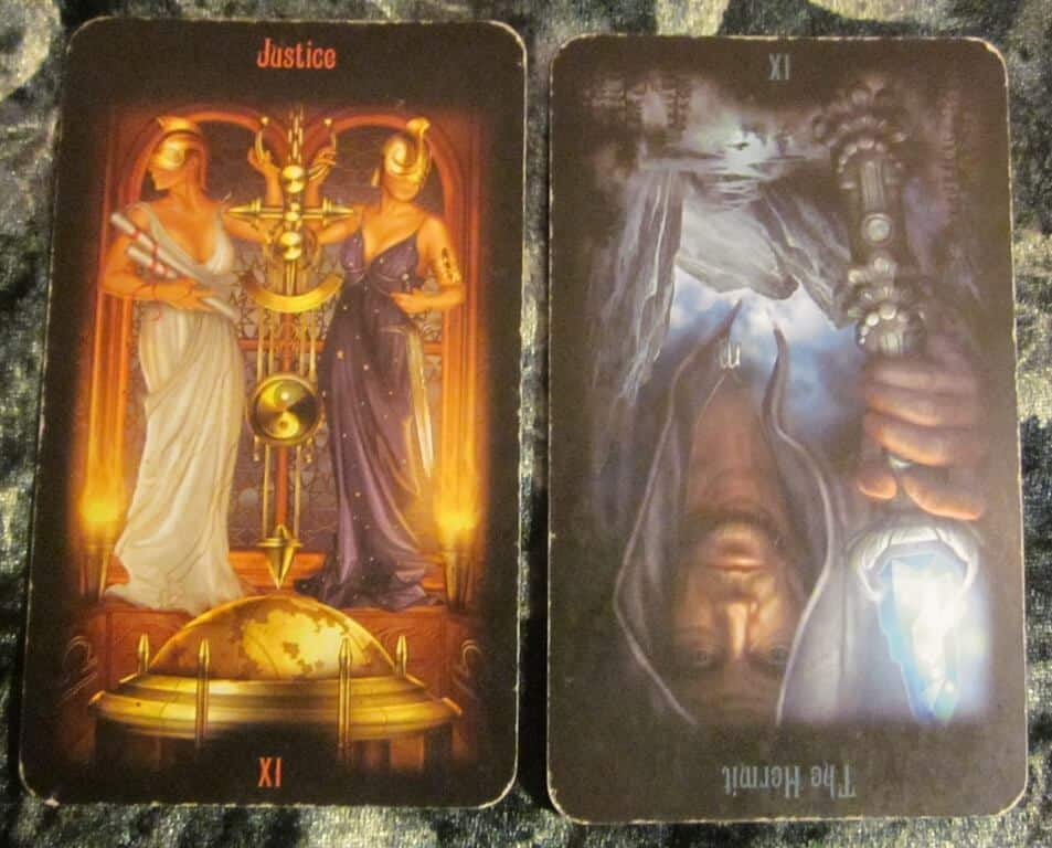 10/16/11: No Navel Gazing | Justice, Hermit Reversed 1