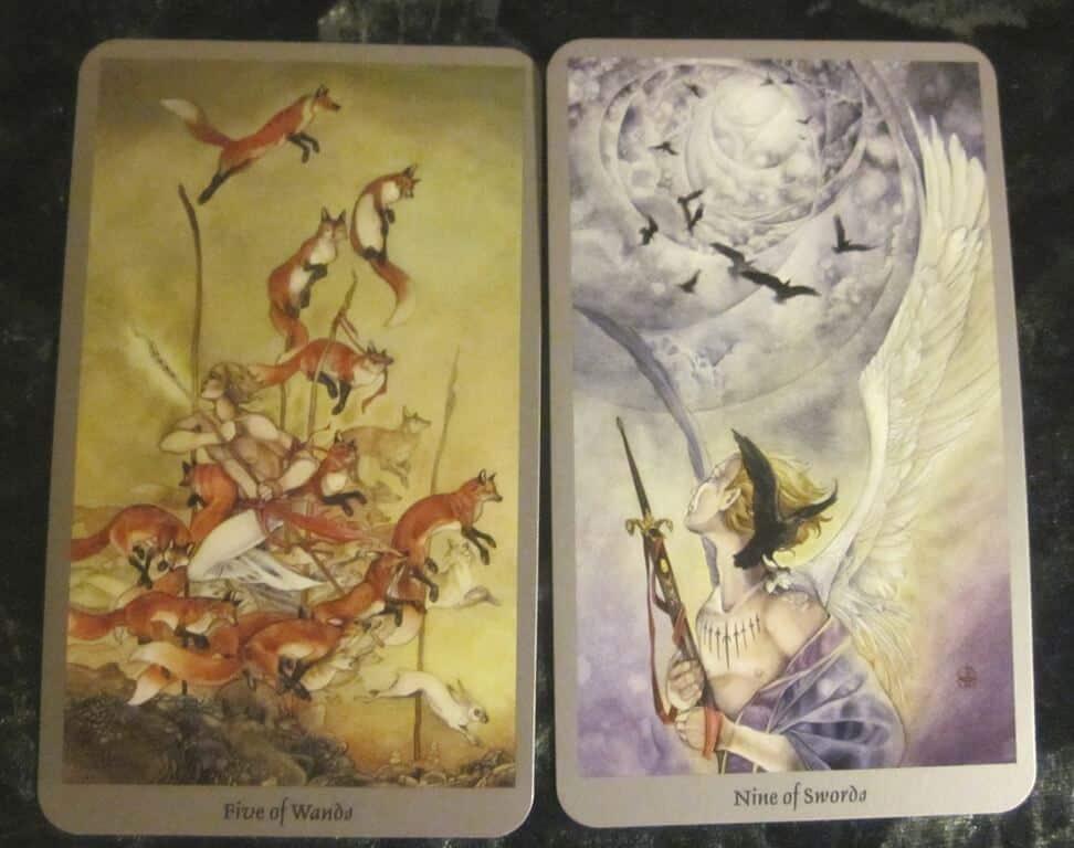 10/12/11: Give it a Rest   Five Wands, Nine Swords 1