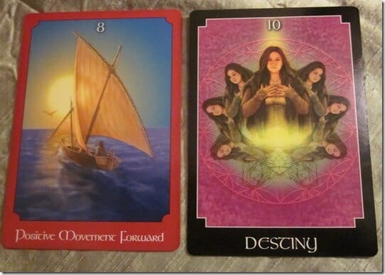 01/27/12: In Fate's Hands | 8 of Wands, Wheel of Fortune 1