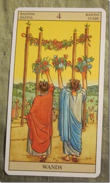 05/23/12: What reality are you marrying? | 4 of Wands 1