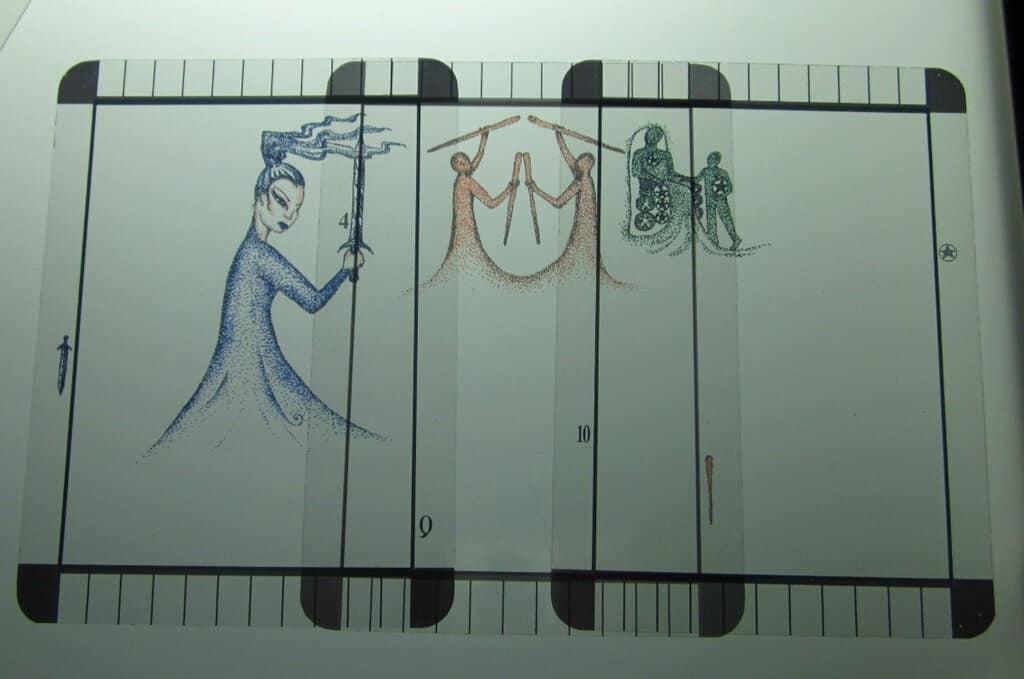 06/07/12: Trust before you Partner | Queen Swords, 4 Wands, 10 Pentacles 1