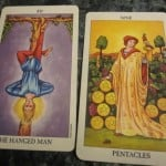 07/17/12: No Know-it-Alls on the Road to Enlightenment | Hanged Man, 9 of Pentacles