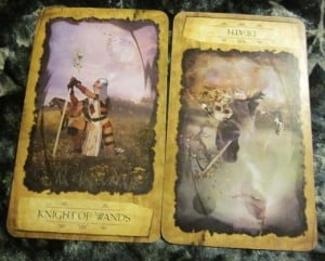 07/31/12: Don't trip over old baggage| Knight of Wands, rev Death
