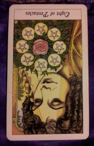 02/13/13: Priority, Surrender / rev 8 of Pentacles 1