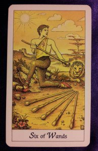 05/16/13: Satisfied Lion / 6 of Wands