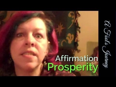 Accessing Prosperity Affirmation: Dropping the Limits