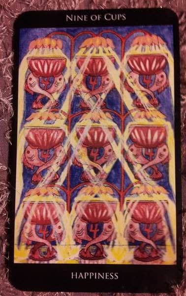 Image result for rosetta tarot 9 of cups