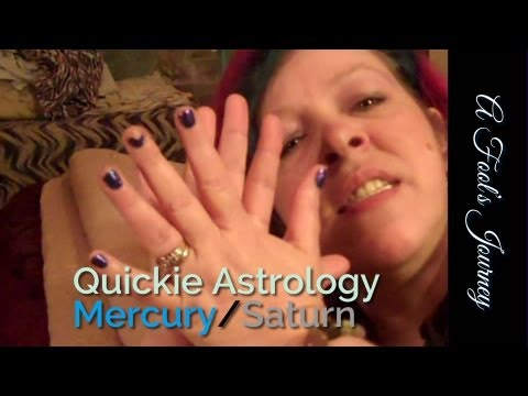 Communicating with Mercury Saturn Aspects 1