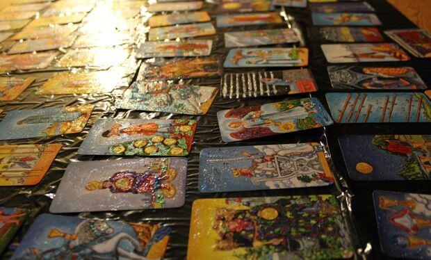 Glitter Tarot Deck Craft Project 1