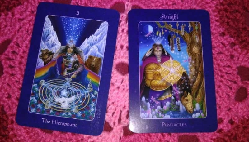 Hierophant & Knight of Pentacles: Fill Your Own Cup First 1