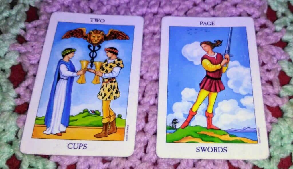 Two of Cups & Page of Swords: Communicating Minus the Baggage 1