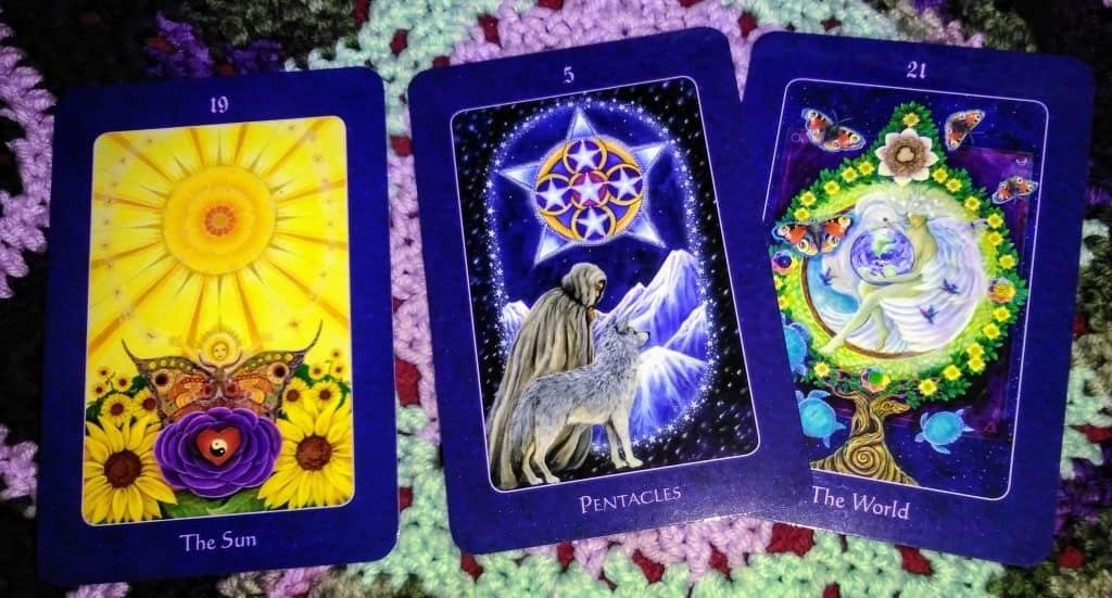 The Sun & Five of Pentacles: Managing the Messes 4