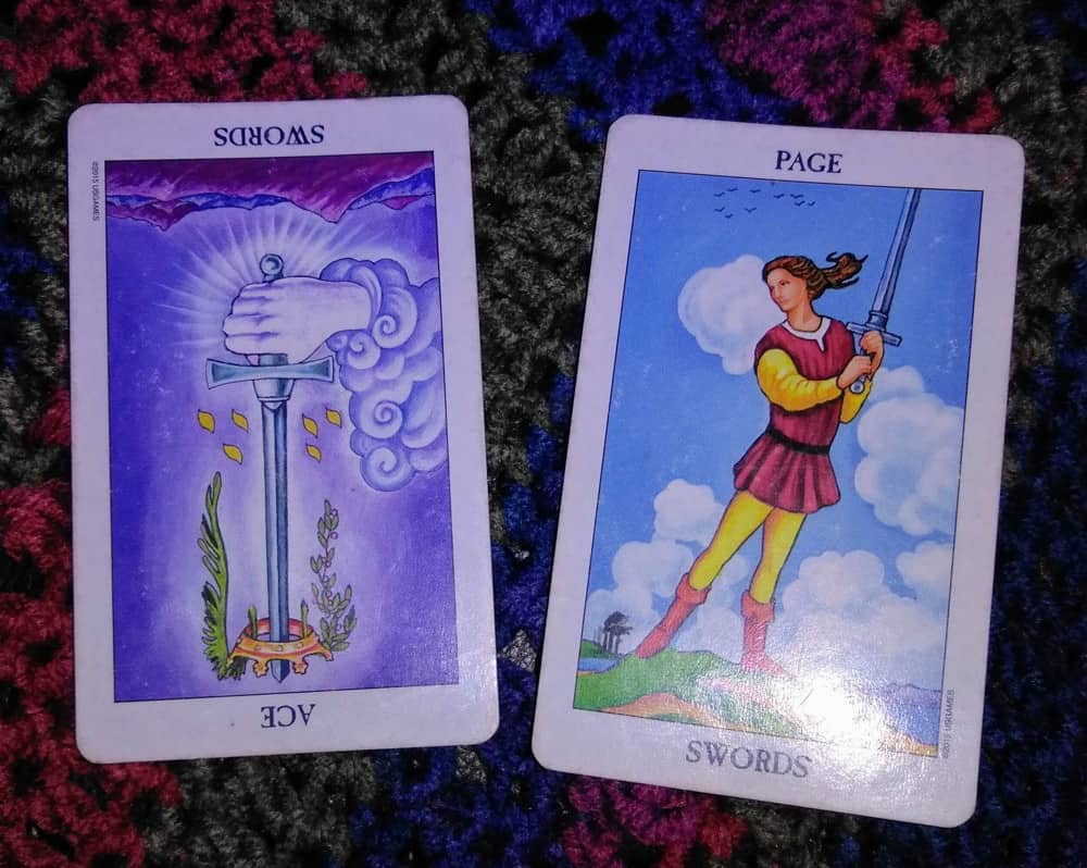 Ace of Swords Rx & Page of Swords: Get Clear 3
