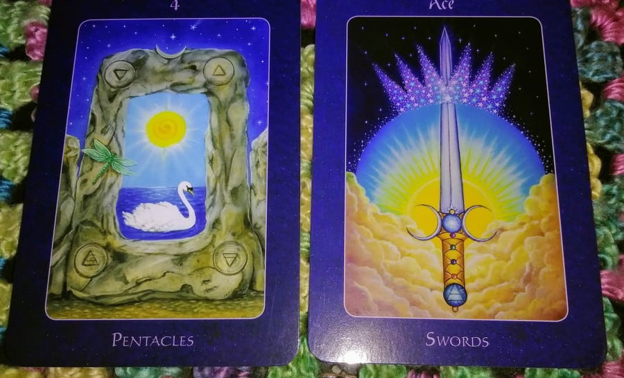 Four of Pentacles & Ace of Swords: Next Clear Step 2