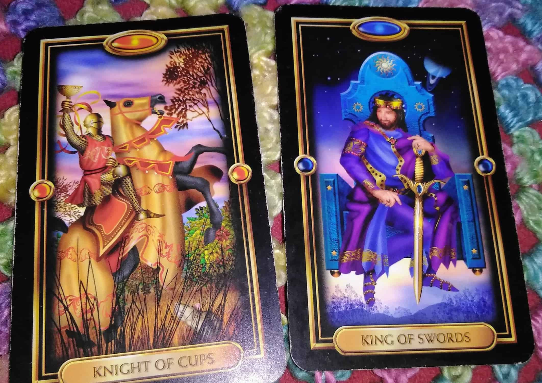 Knight of Cups King of Swords