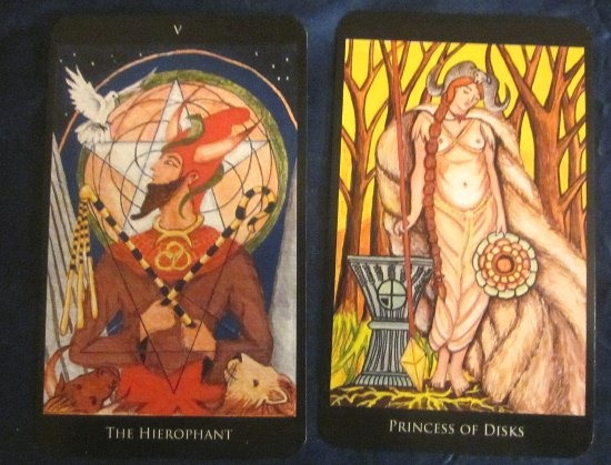 11/23/11: Living Your Faith | Hierophant, Princess of Disks