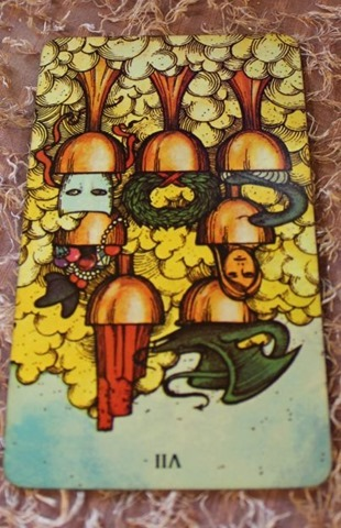 Reversed 7 of Cups Morgan-Greer Tarot